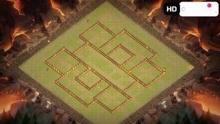 クラクラ配置【TH10】左右対称な陣(壁)