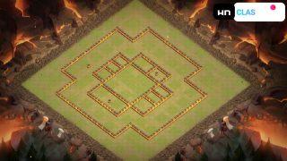 クラクラ配置【TH10】広範囲な回廊陣(壁)