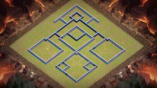 クラクラ配置【TH13】左右対称イーグル砲中心(壁)